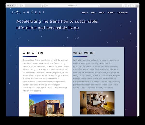 Solarnest homepage